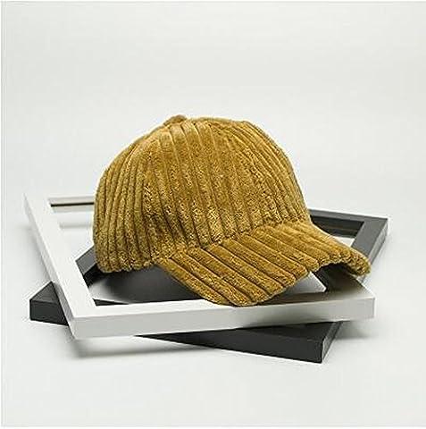 Weibliche Herbst Winter Hut Breite Gestreifte Herz Samt Baseball Cap