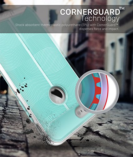 iPhone 7 Custodia, Vena [vAllure] Onda Struttura [Bumper Frame][CornerGuard ShockProof] Slim Ibrido Case Cover Copertura per Apple iPhone 7 (4.7) - Oro / Blu Argento / Teal