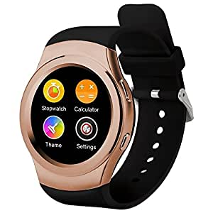 Generic G3 Bluetooth Fitness Tracker Smart Sport Watch, Support SIM Call Heart Rate Pedometer Sleep Monitor Sedentary Reminder(Gold)