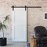 CCJH Binario per porta scorrevole in legno, stile country, 1,8m, per porta ad anta singola