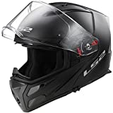 Moto LS2ff324Metro con tapa frontal para moto Modular Negro Mate Casco + Kit de limpieza y Cuidado gratuito, negro mate