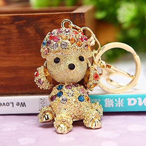 dfhdfsg Kreatives Geschenk Strass Niedlichen Blink Kaninchen Auto Keychain Weiblichen Beutel Anhänger Schlüsselanhänger Pudel Farbe Diamant