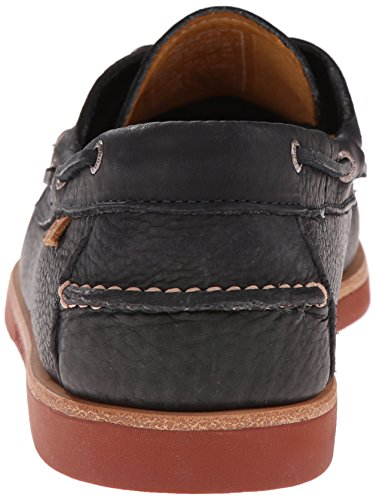 Sebago Men's Crest Dockside Boat Shoe, Black, 10.5 M US Black
