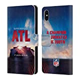 Officiel NFL Stade De Mercedes-Benz Atlanta 2019 Super Bowl LIII Étui Coque De Livre...