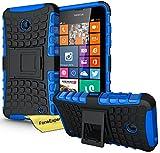 Nokia Lumia 630 635 Handy Tasche, FoneExpert® Hülle Abdeckung Cover schutzhülle Tough Strong Rugged Shock Proof Heavy Duty Case für Nokia Lumia 630 635 + Displayschutzfolie (Blau)