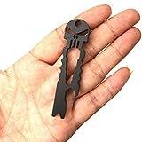 FEITONG Outdoor Edelstahl Schädel Multifunktion Süberlebens Taschen Werkzeug Öffner Schlüsselring