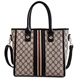 WOAIRAN Umhängetasche Damenmode Vintage Druck Einfache Handtasche Messenger Bags Damen Freizeit Große Kapazität Tote Crossbody