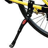 Fahrradständer, Lictin Seitenständer Fahrrad Ständer Hinterbauständer einstellbarer Fahrradständer mit Anti-Rutsch Gummifuß Aluminiunlegierung für Rad 22''-27''