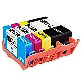 LEMERO Kompatibel Ersetzungen für HP 903XL 903 XL Druckerpatronen für HP OfficeJet Pro 6860 6868 6960 6970 6975 6978 6950 All-in-One, 4 Pack,Schwarz Cyan Magenta Gelb