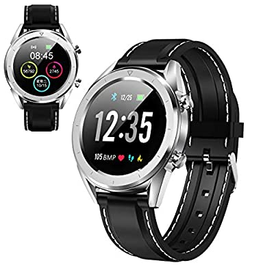 Multifunction Men's Smart Watch, Color Screen Blood Pressure Smartwatch Multi-Sport Mode Heart Rate Monitoring for iOS and Android, Fitness Tracker Watch from Smart Fitsport