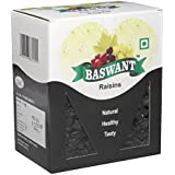 Baswant Jumbo Black Seedless Raisins | Kishmish - 1kg | Premium Quality Indian Raisin | Kismis | Dry Grapes
