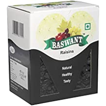 Baswant Jumbo Black Seedless Raisins | Kishmish - 1kg | Premium Quality Indian Dry Grapes