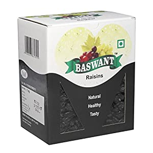 Baswant Jumbo Black Seedless Premium Raisins, – 1 kg | Kala Kishmish | Kismis | Improve Immunity with Amazing Value Pack…