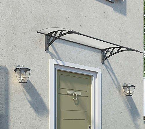 Palram Vordach, Regenschutz, Überdachung Neo 1350 klar// 137x86 cm (BxT) // Pultvordach und Türüberdachung