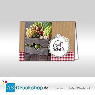 Gutschein Hofladen - Gemüse / 25 Stück/DIN A6