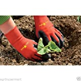Wolf Garten Polyester Blend Soil Care Garden Gloves (Small Size, Red and Black)