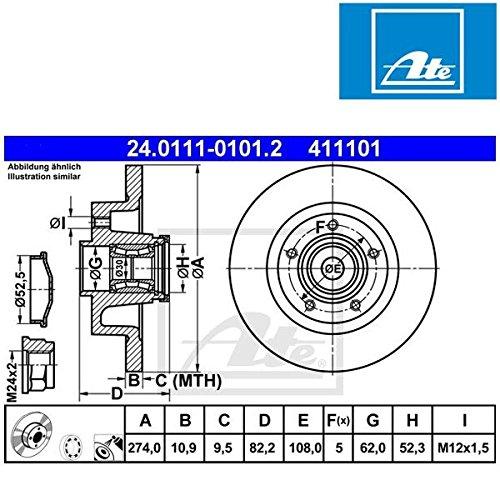 ATE 24011101012 Frein à disque