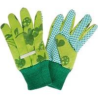 Esschert Design - Guanti da Giardinaggio Bambino, Struttura a Nodi, Dimensioni: Circa 11 x 0,9 x 20 cm, Colore: Verde
