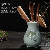 KEQB Kung Fu Tee Zubehör kompletter Satz von Null passenden Massivholz Tee Tisch Teelöffel Teelöffel Tee-Set Tee-Set Teezeremonie Liu Junzi, Di Brennofen (fruchtbare) Bambus