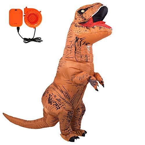 Ohlees Adult Size T-Rex Inflatable Dinosaur Costume aufblasbare Dinosaurier Maskottchen Weihnachten kostümparty Festival Park verkleiden (Adult T-Rex)