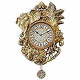 DIDADI Wall Clock Moda creativa muto carte murali orologio di pendolo pastorale continentale antico salotto orologio tavolo
