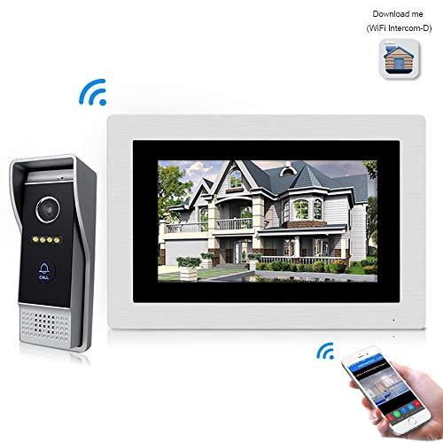 Jeatone 7 Zoll Wired Wifi IP-Video-Türsprechanlage Türklingel Intercom-Entry-System mit 1200TVL Wired Kamera Nachtsicht Unterstützung Remote Entriegelung Aufnahme Snapshot für Villa Ip-intercom