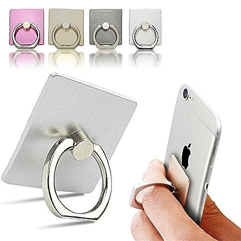 Support Téléphone Voiture Universel, ECVILLA Grip Phone Ring Holder Support Béquille Bague Métal 360 degrés de rotation pour iPhone iPad Samsung LG HTC