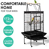 Yaheetech 68'' Large Bird Breeding Cage/Aviary for African Grey Parrots Cockatiels Parakeets Green Cheeked Conure Lovebirds Budgies Finches with Perch Stand and Wheels