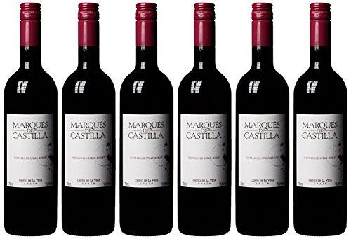 Cristo del la Vega Marques de Castilla Tinto Rotweincuvée aus Tempranillo Syrah und Merlot Cuvée 2015/2016 trocken (6 x 0.75 l)