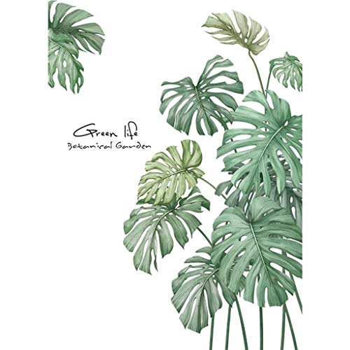 ,DIY Strand tropischen Palmblatt Wandaufkleber Moderne Kunst kreative Pflanze Wanddekoration Aufkleber Wandbild Raumaufteilung ()