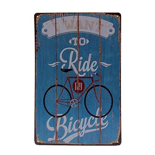 Inovey Fahrrad Zinn Schild Vintage Metallplakette Poster Bar Pub Home Wand Dekor (Schild Fahrrad)