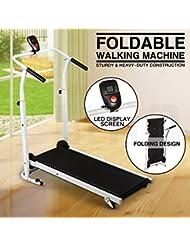 UEnjoy Tapis de Marche Pliable Système de Sécurité Magnétique Fitness Walker