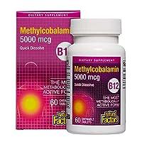 Natural Factors B12 Methylcobalamin, 60 Chewable Tablets