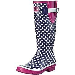 Lunar Polka Dot - Botas largas de agua para mujer, color morado, talla 41 (talla fabricante: 8 UK)