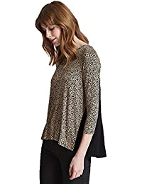 a89a2101391c Marks and Spencer Ladies Gorgeous Animal Leopard Print Pleated Back M&S Top