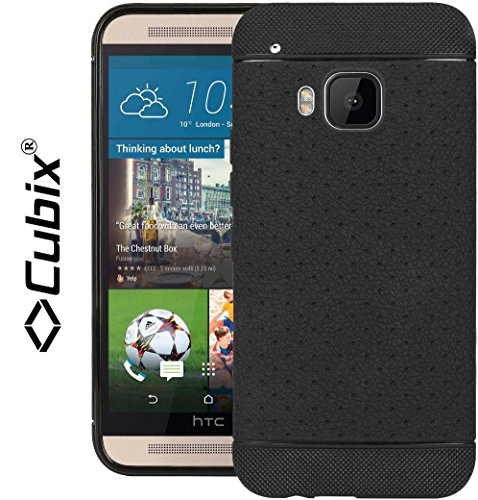 HTC ONE M9 Case, (CUBIX) Grip Flip TPU Designer Honeybee Back Case Cover For HTC ONE M9 (Black)  available at amazon for Rs.349
