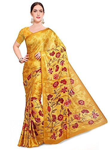 Saree mall Women\'s ART SILK Saree With Blouse (FSP130-A_Yellow_Free Size)
