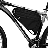 Premium-Fahrradtasche für die Stange I Geräumige Rahmen-Tasche für Damen und Herren I Wasserfeste Dreieckstasche mit Reflektor (L)