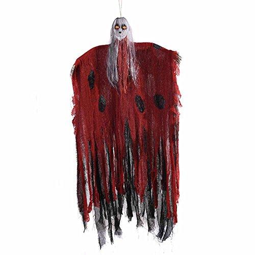 (Stimmenkontrolle Halloween Leinen Geister Elektrische Induktion Geister Horror Requisiten Spukhaus Zimmer entkommen hängenden Geister für Spukhaus Bar KTV Dekorationen)