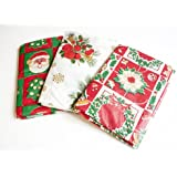 Table Christmas Cover Tablecloth Pvc Xmas Cloth X Vinyl Covering Wipeclean