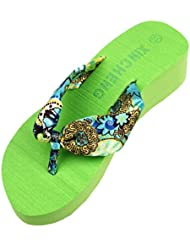 Chanclas Mujer,Xinan Plataforma de la Cuña Sandalias de las Chancletas Zapatillas