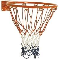 Sure Shot - Aro de baloncesto con red, color naranja y blanco