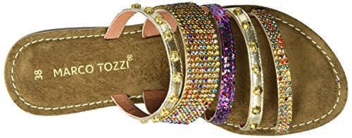 Marco Tozzi 27108, Sandales Bout Ouvert Femme Argent (Platinum Comb 960)
