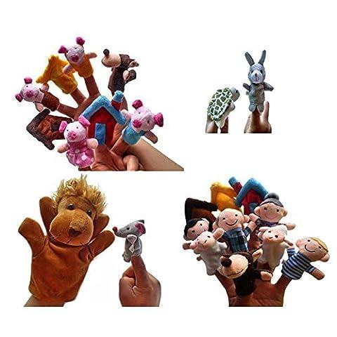Lsv-8le conte de fées Ensemble de marionnettes pour les trois