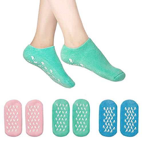 DUOUPA 3 Paar Feuchtigkeitsspendende Gel Socken Soften Spa Gel Socken zur Reparatur trockener rissiger Haut -
