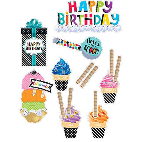 Mini Bulletin Board Bold & Bright Happy Birthday (2178) (Bulletin Boards Ideen)
