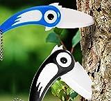 Bluelover Creativo Dell'Uccello In Ceramica Coltello Da Tasca Outdoor Pieghevole Coltelli Cucinafrutta Spelucchino-Dark Blue