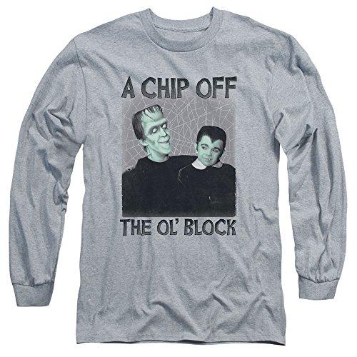 Munsters - Herren-Chip-Langarm T-Shirt Athletic Heather
