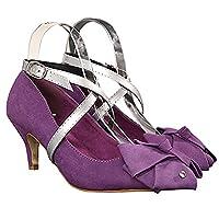 iiniim Women's PU Leather Shoe Straps High Heels Detachable Anti-loose Shoelace (One Size, Silver)