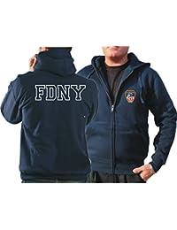 Survêtement à capuche bleu marine, FDNY avec fabrigem poitrine Logo et inscription Outline sur le dos